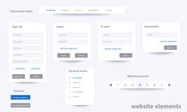 Biznesowi strona internetowa elementy z tekstem Zdjęcia Stock