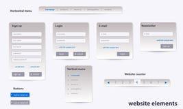 Biznesowi strona internetowa elementy z tekstem Obrazy Royalty Free