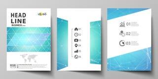 Biznesowi szablony dla broszurki, magazyn, ulotka, broszura, raport Okładkowy projekta szablon, wektorowy układ w A4 rozmiarze ilustracji