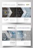 Biznesowi szablony dla broszurki, magazyn, ulotka Okładkowy projekta szablon, płaski układ w A4 rozmiarze 3 d streszczenie ilustracji