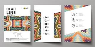 Biznesowi szablony dla broszurki, ulotka, broszura Okładkowy projekta szablon, abstrakcjonistyczny wektorowy układ w A4 rozmiarze royalty ilustracja