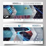 Biznesowi szablony dla kwadratowej broszurki, magazyn, ulotka, broszura Ulotki pokrywa, płaski układ, łatwy editable Abstrakt Obraz Royalty Free