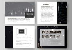Biznesowi szablony dla prezentacj obruszeń Wektorowi układy Abstrakcjonistyczny infographic tło w minimalistycznym projekcie robi Zdjęcia Royalty Free