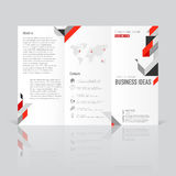Biznesowi szablony dla trifold broszurki, sprawozdanie roczne Fotografia Stock