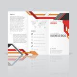 Biznesowi szablony dla trifold broszurki, sprawozdanie roczne Zdjęcie Stock
