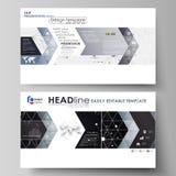 Biznesowi szablony w HD formacie dla prezentaci one ślizgają się Wektorowi układy Abstrakcjonistyczny infographic tło w minimaliś Obraz Royalty Free