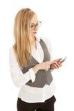 biznesowi telefon komórkowy kobiety potomstwa Zdjęcie Stock