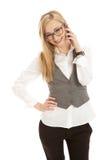 biznesowi telefon komórkowy kobiety potomstwa Fotografia Stock