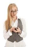 biznesowi telefon komórkowy kobiety potomstwa Obrazy Stock