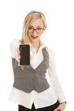 biznesowi telefon komórkowy kobiety potomstwa Zdjęcia Royalty Free
