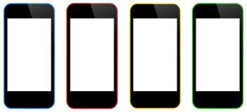 Biznesowi telefony komórkowi Odizolowywający royalty ilustracja