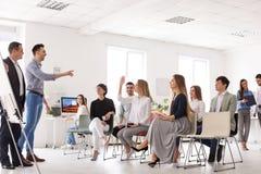 Biznesowi trenery daje wykładowi zdjęcie stock