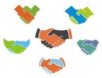 Biznesowi uścisków dłoni symbole, ikony i Zdjęcie Royalty Free