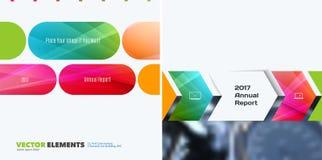 Biznesowi wektorowi projektów elementy dla graficznego układu Nowożytny abstr Obraz Royalty Free