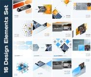 Biznesowi wektorowi projektów elementy dla graficznego układu Nowożytny abstr Zdjęcia Royalty Free