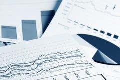 biznesowi wykresy obraz stock