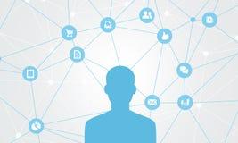Biznesowy abstrakcjonistyczny ogólnospołeczny conection Zdjęcia Stock