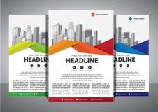 Biznesowy abstrakcjonistyczny wektorowy szablon Broszurka projekt, okładkowy nowożytny układ, sprawozdanie roczne, plakat, ulotka zdjęcie stock