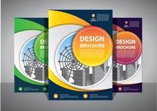 Biznesowy abstrakcjonistyczny wektorowy szablon Broszurka projekt, okładkowy nowożytny układ, sprawozdanie roczne, plakat, ulotka zdjęcie royalty free