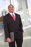 biznesowy Amerykanin afrykańskiego pochodzenia mężczyzna Obrazy Royalty Free
