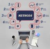 Biznesowy analityki strategii metod taktyk grafiki pojęcie Obrazy Stock