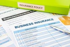 Biznesowy asekuracyjny planowanie dla zarządzania ryzykiem Zdjęcie Stock