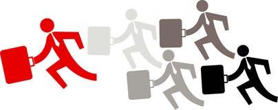 biznesowy bieg ilustracja wektor