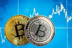 Biznesowy bitcoin monet waluty finanse pieniądze obraz royalty free