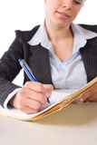 biznesowy biurko zauważa kobiety writing Obraz Royalty Free