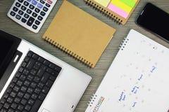 Biznesowy biurowy biurko z pracować rozkład Well uorganizowana pracująca przestrzeń Fotografia Royalty Free