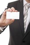 biznesowy biznesmena karty przedstawienie zdjęcie stock