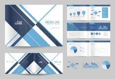 Biznesowy broszurka projekta strony i szablonu układ dla firma profilu ilustracji