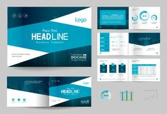 Biznesowy broszurka projekta strony i szablonu układ dla firma profilu, sprawozdanie roczne, royalty ilustracja