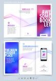 Biznesowy broszurki i pokrywy projekta układu szablon Wektorowy illus Obraz Stock
