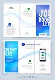 Biznesowy broszurki i pokrywy projekta układu szablon Wektorowy illus Fotografia Royalty Free