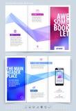 Biznesowy broszurki i pokrywy projekta układu szablon Wektorowy illus Obrazy Royalty Free