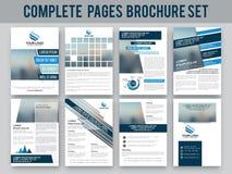 Biznesowy broszurki, szablonu lub ulotki set, Zdjęcie Royalty Free