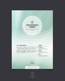 Biznesowy broszurki, ulotki i pokrywy projekta układu szablon z b, Obrazy Stock