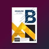 Biznesowy broszurki ulotki pokrywy projekta układu Kolorowy szablon w A4 rozmiarze z Najważniejszym projekta szablonu tłem, Obrazy Stock