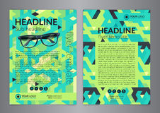 Biznesowy broszurki ulotki projekta układu szablon, wielkościowy A4 z geometrycznym wzorem, tła nowożytni Zdjęcie Stock