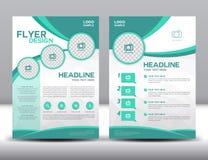 Biznesowy broszurki ulotki projekta układu szablon w A4 rozmiarze Obraz Stock