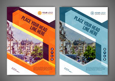 Biznesowy broszurki ulotki projekta układu szablon w A5 rozmiarze Zdjęcia Royalty Free