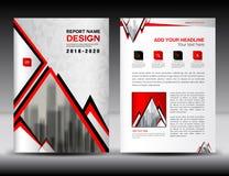 Biznesowy broszurki ulotki szablon w A4 rozmiaru, rewolucjonistki i bielu pokrywie, Fotografia Stock