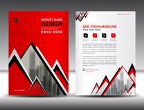 Biznesowy broszurki ulotki szablon w A4 rozmiarze, rewolucjonistki pokrywy projekt Zdjęcie Royalty Free