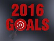 Biznesowy cel dla 2016 Fotografia Stock