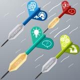 Biznesowy celu marketingu strzałki pomysł kreatywnie Zdjęcie Stock