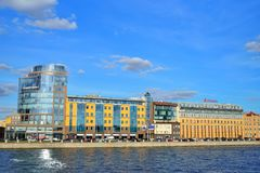 Biznesowy centre w Helsingfors i grenadier na Vyborgskaya Zdjęcie Royalty Free