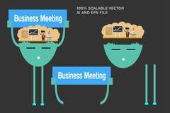 Biznesowy charakter, ludzie Płaska elegancka wektorowa ilustracja Fotografia Stock