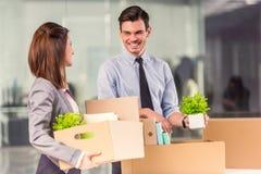 Biznesowy chodzenie w biurze Zdjęcie Stock