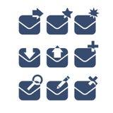 _biznesowy czek ikona ilustracja poczta więcej mój zadawalać portfolio ustawiać Obraz Stock
